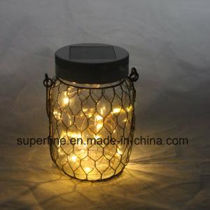 Garden Romantic Hanging Glittering Jar Street Solar Lights with Metal Net pictures & photos