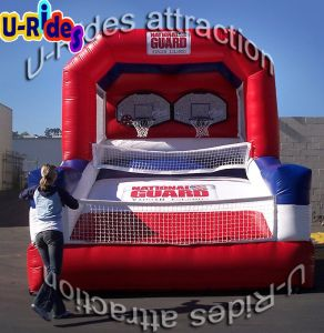 Wholesale Price Basketball Game Inflatable Slam Dunk Basketball Gate for Event pictures & photos