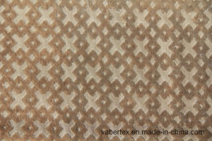 Woven Cut Velvet Polyester Sofa Textile Upholstery Fabric pictures & photos