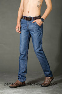 Good Fitting Mens Business Jeans with MID-Washed pictures & photos