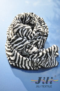 The Most Fashionable Black and White Cooleye Pantherine Leopard Print Long Scarf pictures & photos
