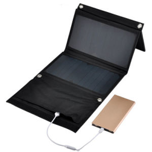 14W Portable Waterproof Dual USB Sunpower Solar Charger pictures & photos