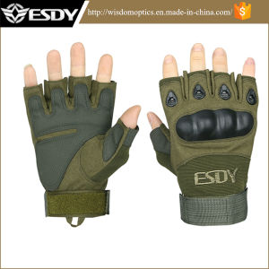 Nylon Summer Outdoor Military Shooting Cycling Biking Half-Finger Fingerless Gloves pictures & photos