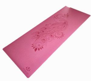 PU Yoga Mat Laser Engraved Custom Pattern Anti-Slip pictures & photos