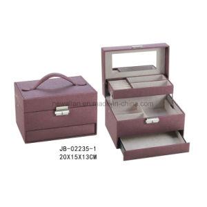 Sweet Design Purple Leather Jewelry Storage Box Jewelry Box