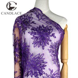Fashion Design Purple Bridal Lace Fabric pictures & photos
