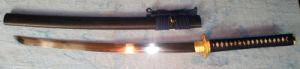 Handmade Golden Tsunami Ko-Katana/Real Samurai Sword Battle Ready pictures & photos