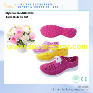 Unisex EVA Lace up Garden Clogs Shoes pictures & photos