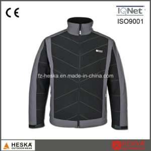 New Design Men Padding Softshell Jacket pictures & photos
