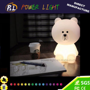 Color Changing Kids Light Cute LED Brown Bear Night Lamp pictures & photos