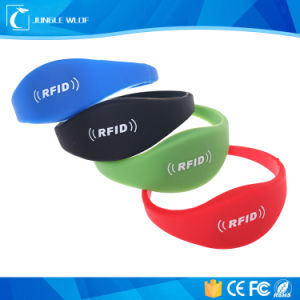 Colorful Lf Hf UHF Chip RFID Silicone Wristbands for Swimming pictures & photos