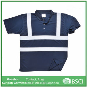 Polo Shirt with Hi-Vis Refective Tape pictures & photos