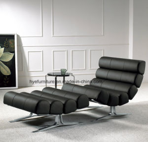 Black Color Leather Leisure Chair Living Room Furniture (T092) pictures & photos