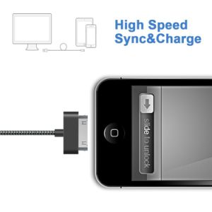 Nylon Braided DC5V Charge/Sync Cable for iPhone 4 pictures & photos