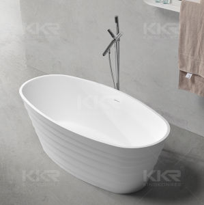 Sanitaryware Artificial Marble Stone Freestanding Hot Bath Tub (BT170808) pictures & photos