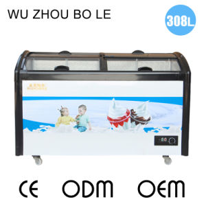 Toughened Coating Glass Door Ice Cream Cooler