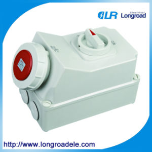 Mechanical Interlocking IP67 5p 63A Industrial Plug and Socket pictures & photos