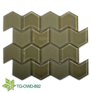 Grey Crystal Glass Mosaic Wave Border Tiles (TG-OWD-892) pictures & photos