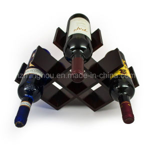 Compact Design 8-Bottles Storage Wooden Butterfly Wine Display Rack pictures & photos