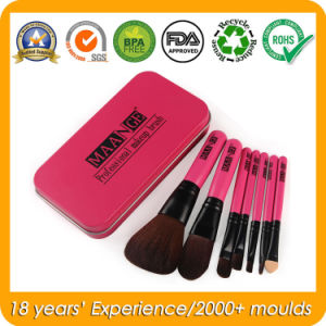 Portable Makeup Brush Set Metal Tin Box pictures & photos