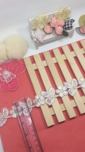 Stock Wholesale 4cm Width Embroidery Trimming Lace for Garments & Home Textiles & Curtains pictures & photos