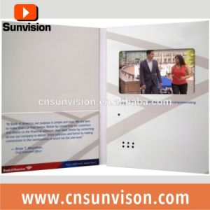 "A5 Landscape 5"" IPS Screen LCD Video Brochure Card pictures & photos"