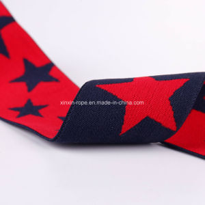 Nylon Star High Elastic Soft Braided Woven Jacquard Webbing pictures & photos