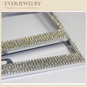 Car Lisence Plate Frame with Crystal Rhinestone pictures & photos