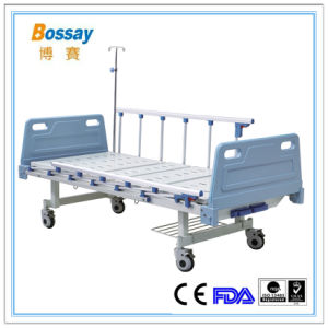 Adjustable Medical Bed ICU Bed with 2 Cranks pictures & photos
