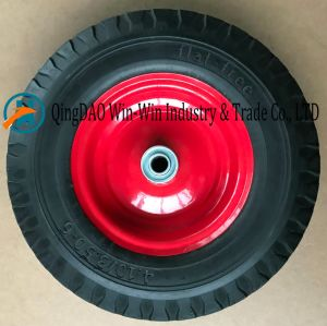 Flat-Free PU Wheel with Colorful Steel Rim (4.10/3.50-6) pictures & photos