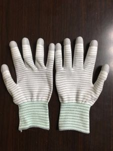 Cleanroom PU Coated Gloves Palm Coated Nylon Gloves pictures & photos