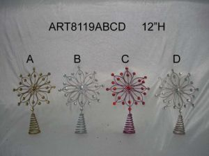 Merry Christmas Tree Top Decoration Giftcrafts-4asst pictures & photos