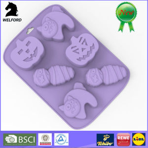 Non-Stick Silicone Smiling Faces Cake Mould pictures & photos