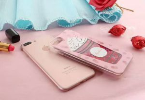 Sequins Wine Perfume Bottle Transparent PC Crystal Phone Case Case for iPhone 7 7s 6 6s Plus pictures & photos
