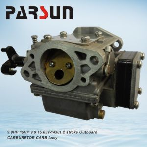 9.9HP 15HP 9.9 15 63V-14301 2 Stroke Outboard Parsun Carburetor Carb Assy pictures & photos