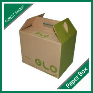Portable Kraft Paper Box with Handle pictures & photos