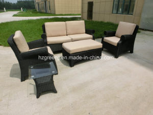 5 Pieces Wicker Sofa Set Rattan Outdoor Garden Furniture pictures & photos