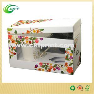 Custom Cardboard Gift Mug Box with PVC Window (CKT-CB-145)