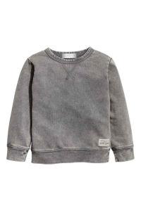 3-8y Boys CVC8020 280g Fleece Crew Neck Washed-Look Sweatshirt pictures & photos