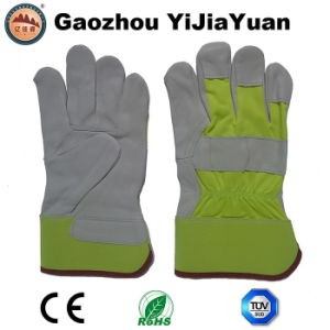 Ab Grade Goat Grain Leather Industrial Protective Hand Working Gloves pictures & photos