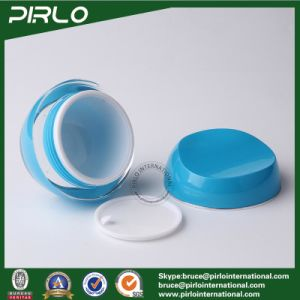 10g 30g 50g Luxury Blue Plastic Skin Care Cream Packing Container Plastic Jars Acrylic Material Cosmetic Cream Jar with Lid pictures & photos