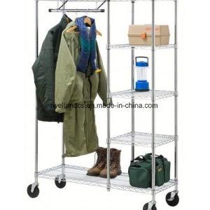 Adjustable Bedroom Closet Garment Rack/Metal Wardrobe Rack pictures & photos