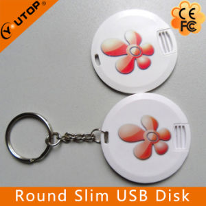 Round Slim Card USB Pendrive as Promotion Gift (YT-3108) pictures & photos