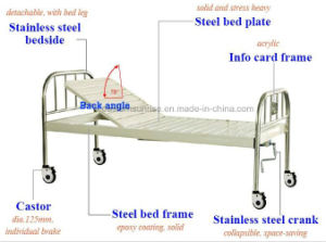 Manual Medical Hospital Bed pictures & photos
