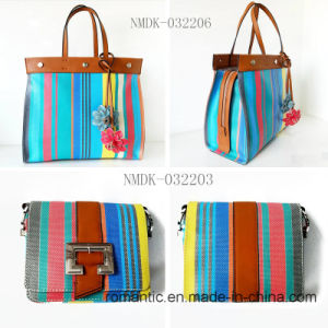 Fancy Colorful Elegant Lady PU Leather Handbags (NMDK-032206) pictures & photos