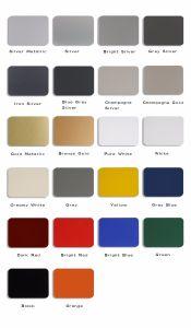 Aluis Exterior 6mm Aluminium Composite Panel-0.40mm Aluminium Skin Thickness of FEVE High Glossiness Grey Blue pictures & photos
