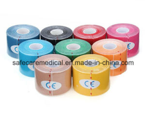 5m * 5cm Waterproof Breathable Sports Kinesiology Muscles Care Fitness Athletic Health Cotton Elastic Adhesive Tape pictures & photos