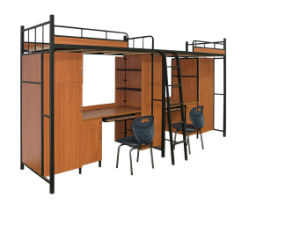Modern Shool Furniture Steel Metal Bunk Dormitory Bed (HX-JY005) pictures & photos