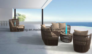 New Design Cheap Outdoor Rattan Patio Furniture Single&Double&Triple Sofa Set with Ottoman & Side Table (YT1055) pictures & photos