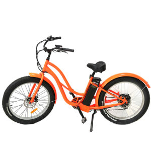 Fat Tire Motorized Electric Mountain Bike, 500W 4.0 Inch Beach Cruiser E-Bike pictures & photos